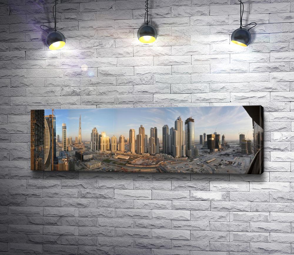 "Картина ""Панорама города Дубаи, небоскребы  """
