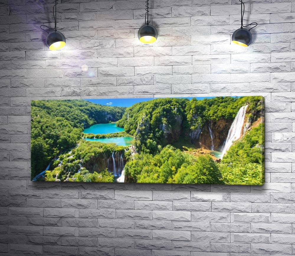 "Картина ""Плитвицкие озера и водопады, Хорватия"""