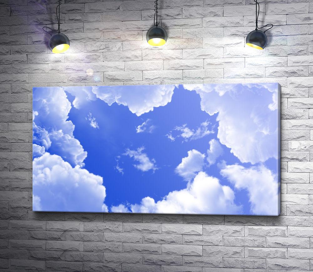 """Картина """"Голубое небо с облаками"""""""