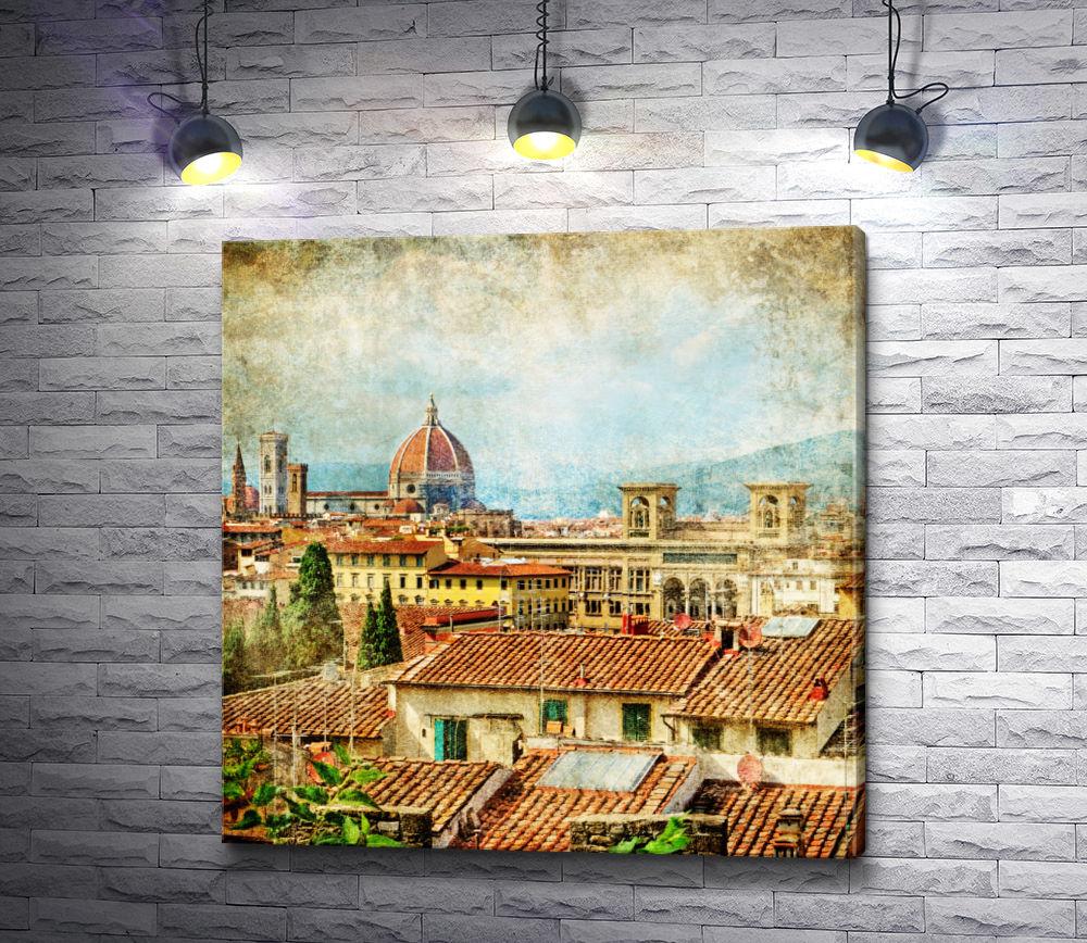 "Картина ""Крыши Флоренции. Винтаж"""