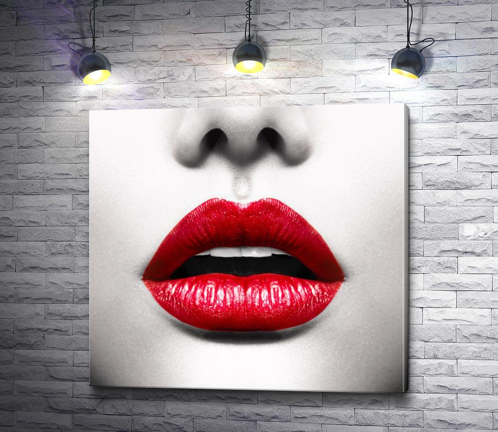 """Картина """"Красные губы"""""""