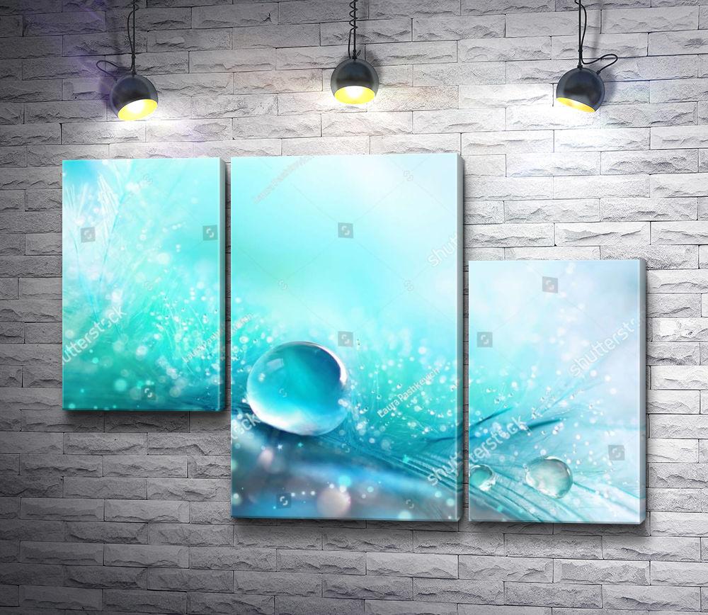 "Картина ""Капелька воды"" из 3-х частей (модуль №10)"