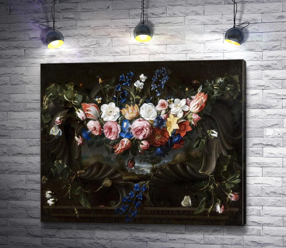 """Картина """"Хуан Де Арельяно """"Натюрморт. Цветы"""""""""""