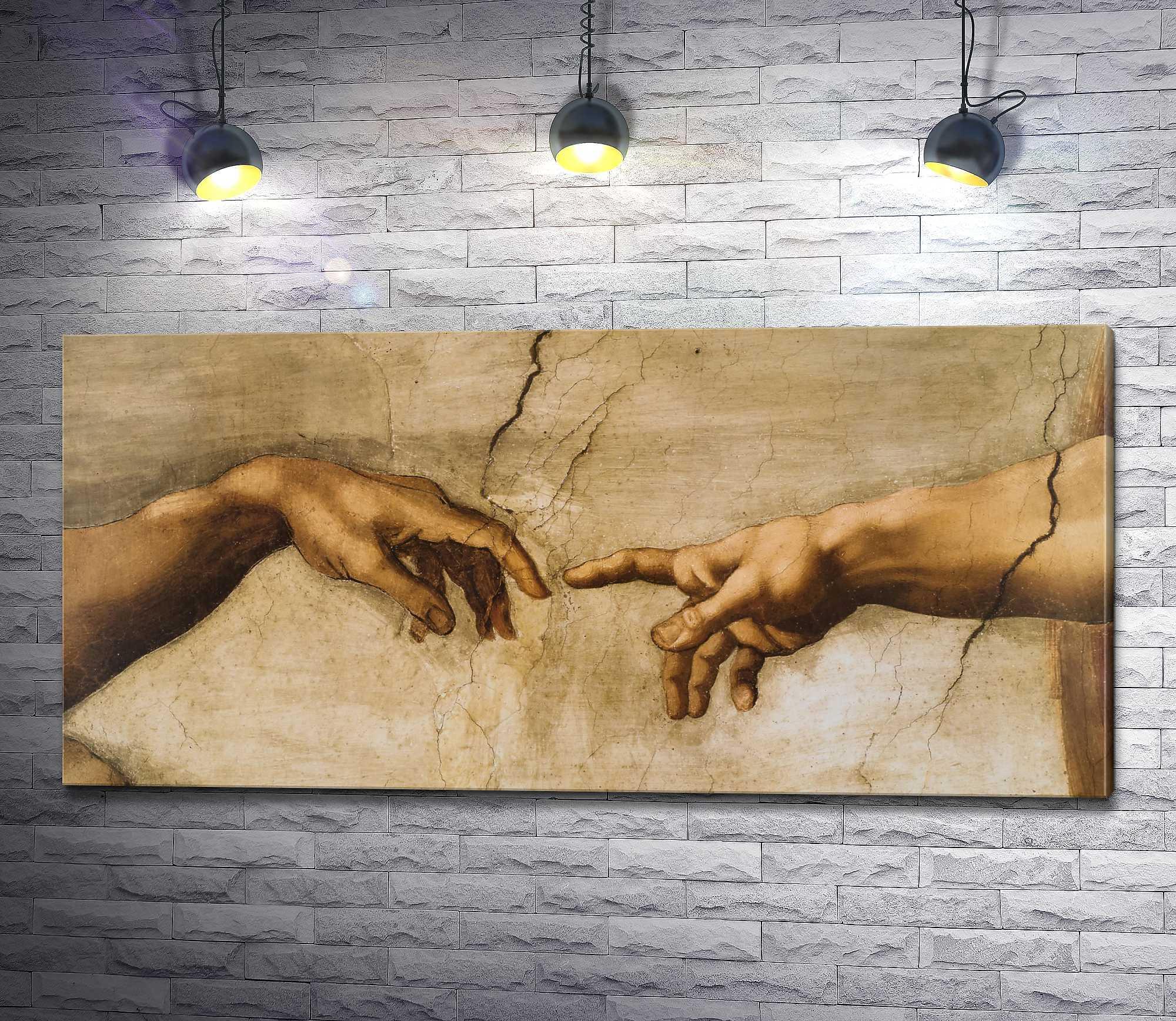 "Картина ""Микеланджело Буонарроти ""The Creation of Adam"" (Сотворение Адама)"""