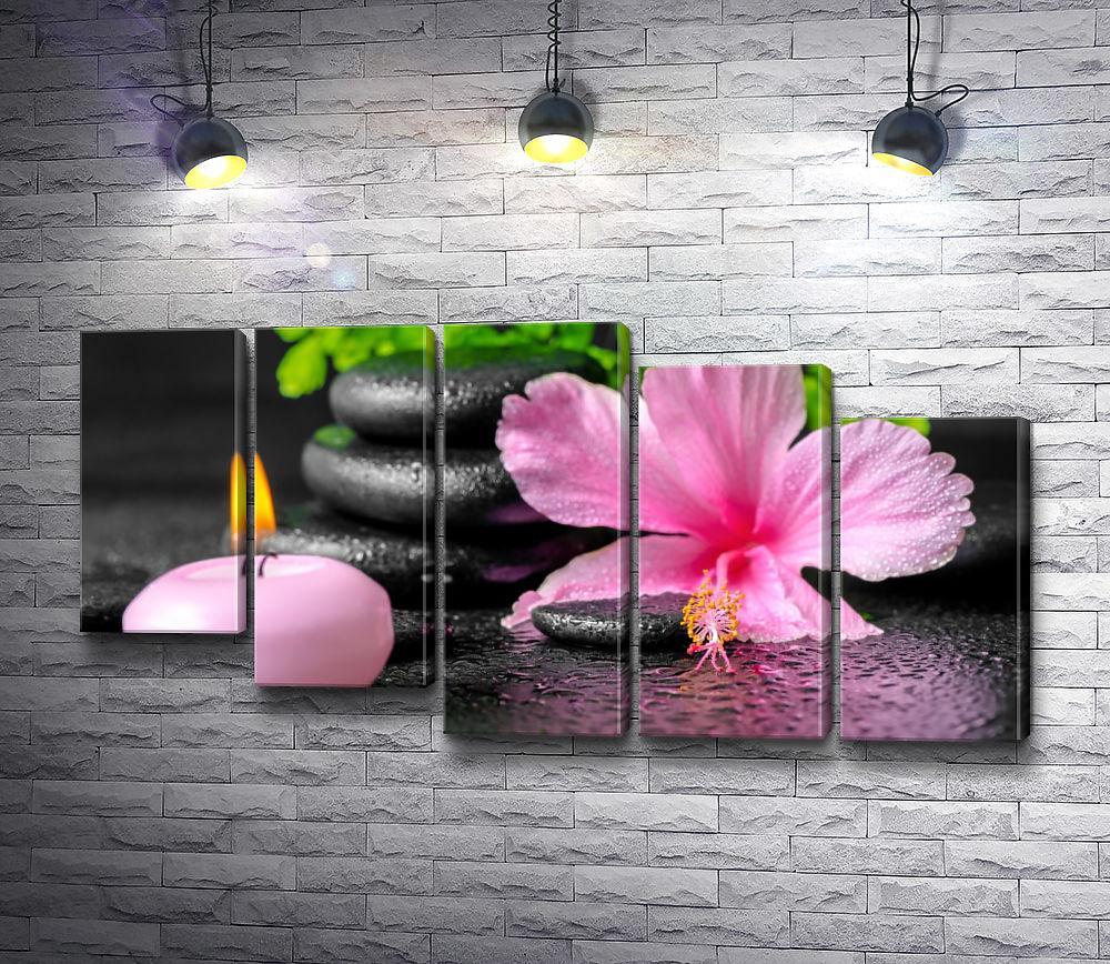 """Картина """"Орхидея и свеча"""" из 5-и частей (модуль №29)"""
