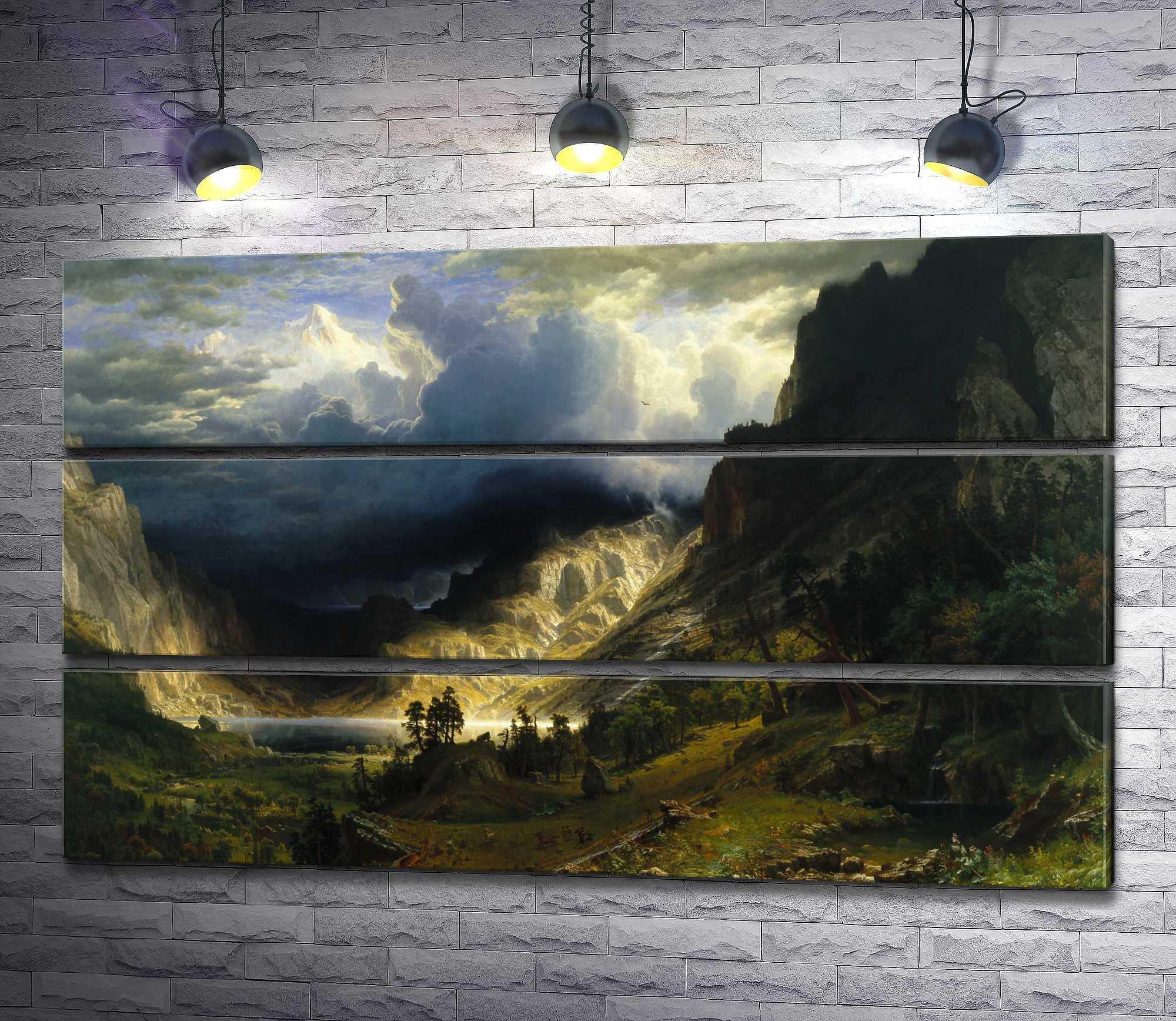 "Картина ""Альберт Бирштадт - A Storm in the Rocky Mountains"" из 3-х частей (модуль №13)"