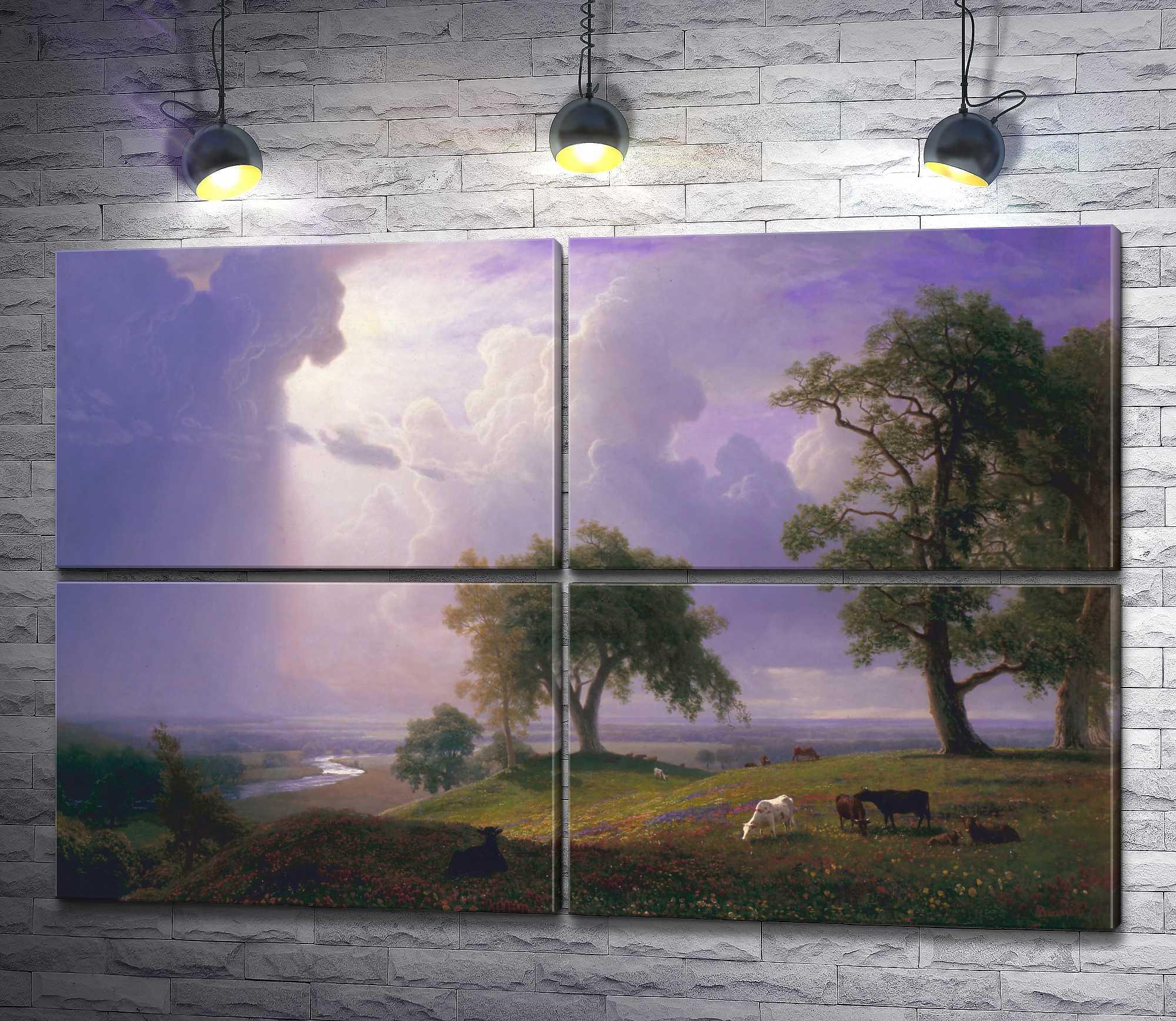 "Картина ""Альберт Бирштадт - California Spring"" из 4-х частей (модуль №24)"